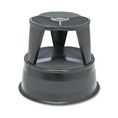 "Cramer® STOOL STEP ROLLING BK KIK-STEP STEEL STEP STOOL, 2-STEP, 350 LB CAPACITY, 16"" DIA. X 14.25H, BLACK"