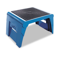 Cramer Folding Step Stool, 250lb Duty Rating, 14w x 11 1/4d x 9 3/4h, Blue
