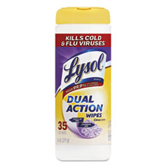 LYSOL® Brand WIPES DSNFCT 35-CANSTER Disinfecting Wipes, Dual Action, Citrus, 7 X 8, 35-canister