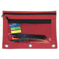 AVT 94037 Advantus Binder Pencil Pouch with Two Clear Pockets AVT94037