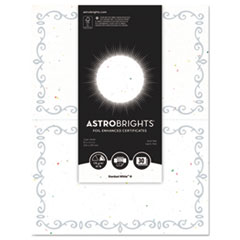 WAU 91110 Astrobrights Foil Enhanced Certificates WAU91110