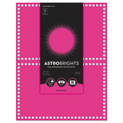 WAU 91107 Astrobrights Foil Enhanced Certificates WAU91107