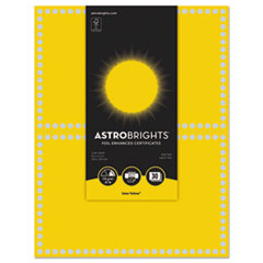 WAU 91106 Astrobrights Foil Enhanced Certificates WAU91106