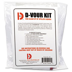 Big D Industries FRESHENER DVOUR KIT 6-CT D'vour Clean-Up Kit, Powder, All Inclusive Kit, 6-carton
