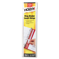 Cardinal HOLDit! Self-Adhesive Multi-Punched Binder Insert Strips, 25 Strips/Pack
