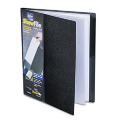 Cardinal SpineVue ShowFile Display Book w/Wrap Pocket, 12 Letter-Size Sleeves, Black
