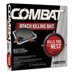 Combat® DISINFECTANT ROACH BAIT Source Kill Large Roach Killing System, Child-Resistant Disc, 8-box