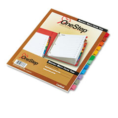 Cardinal Traditional OneStep Index System, 12 Tab, Jan-Dec, Letter, Multicolor, 12/Set