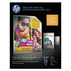 HEW X3E84A HP Heavy-Weight Laser Glossy Brochure Paper HEWX3E84A