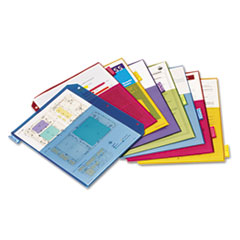 Cardinal Poly 2-Pocket Index Dividers, Letter, Assorted, 8-Tabs/Set, 4 Sets/Pack