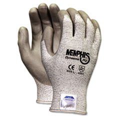 Memphis Dyneema Polyurethane Gloves, Extra Large, White/Gray, Pair
