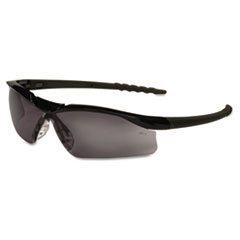 Dallas Wraparound Safety Glasses, Black Frame, Gray Lens