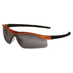 Crews Dallas Wraparound Safety Glasses, Orange Frame, Gray AntiFog Lens