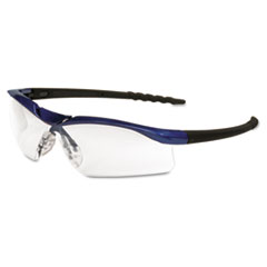Crews Dallas Wraparound Safety Glasses, Metallic Blue Frame, Clear AntiFog Lens