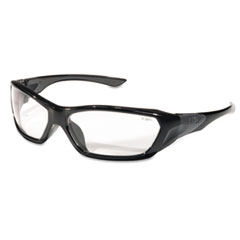 ForceFlex Safety Glasses, Black Frame, Clear Lens