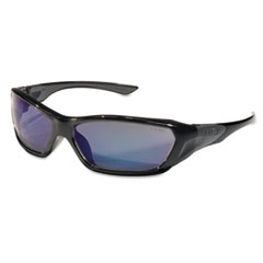ForceFlex Safety Glasses, Black Frame, Blue Lens