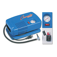 Champion Sports Electric Inflating Pump w/Gauge, Hose & Needle, 1/4 HP Compressor