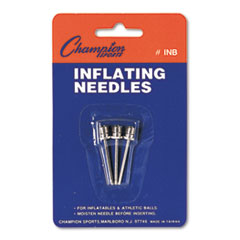 Champion Sports Nickel-Plated Inflating Needles for Electric Inflating Pump, 3 Needles/Pack