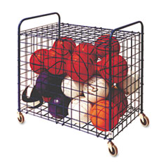Champion Sports Lockable Ball Storage Cart, 24-Ball Capacity, Black