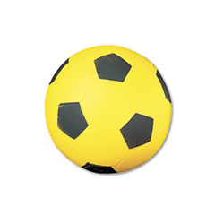 Champion Sports Coated Foam Sport Ball, For Soccer, Playground Size, Yellow