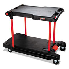 RCP 430000BK Rubbermaid Commercial Convertible Utility Cart RCP430000BK