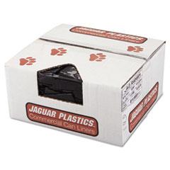 "Jaguar Plastics® LINER REPRO 40X46 1.5MIL REPRO LOW-DENSITY CAN LINERS, 45 GAL, 1.5 MIL, 40"" X 46"", BLACK, 100-CARTON"