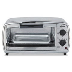 Oster® TOASTER 4 SLICE OVEN SS Toaster Oven, 4-Slice, 11.1 X 17.4 X 9 1-2, Stainless Steel