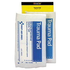 First Aid Only™ FIRST AID 5X9 TRAUMA PAD Smartcompliance Refill Trauma Pad, 5 X 9, White, 2-bag