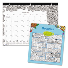 RED CA2917211 Blueline Monthly Desk Pad Calendar with Coloring Pages REDCA2917211