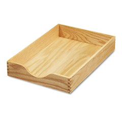 Carver Hardwood Legal Stackable Desk Tray, Oak