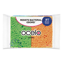 ocelo™ SPONGE STAYFRESH 4-PACK Vibrant Color Sponges, 4.7 x 3 x 0.6, Assorted Colors, 4-Pack