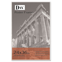 DAX U-Channel Poster Frame, Contemporary w/Plexiglas Window, 24 x 36, Clear