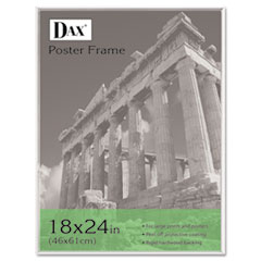 DAX U-Channel Poster Frame, Contemporary w/Plexiglas Window, 18 x 24, Clear