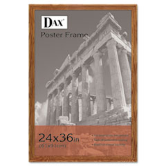 DAX Plastic Poster Frame, Traditional w/Plexiglas Window, 24 x 36, Medium Oak