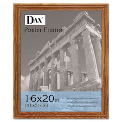 DAX Plastic Poster Frame, Traditional w/Plexiglas Window, 16 x 20, Medium Oak