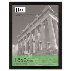 Black Plastic Poster Frame w/Plastic Window, Wide Profile, 18 x 24