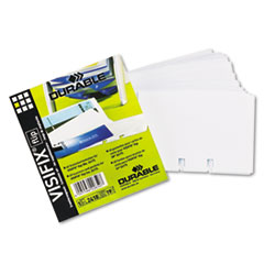 Durable VISIFIX Double-Sided Business Card Refill Sleeves, 40/Pack