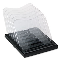 deflect-o Document Browser, Five Sections, Plastic, 8 1/8w x 11 5/8d x 6 3/8h, Black