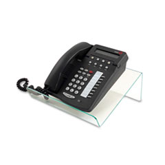 deflect-o Glasstique Planner/Telephone Stand, 11 3/4 x 9 1/4 x 4 1/4, Green