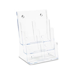 deflecto Multi Compartment DocuHolder, Six Compartments, 9w x 7-1/2d x 13-3/4h, Clear