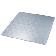 ExecuMat Studded Beveled Chair Mat, High Pile Carpet, 60w x 60l, Clear