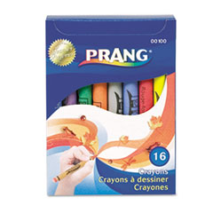 Prang® CRAYON REG SZ 16AST Crayons Made With Soy, 16 Colors-box