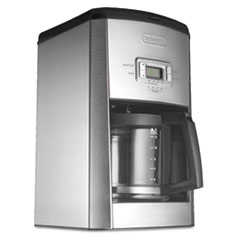DeLONGHI DC514T 14-Cup Drip Coffee Maker, Stainless Steel, Black/Silver