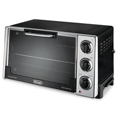 DeLONGHI Convection Oven w/Rotisserie, 12.5L, .5 cu.ft, Black