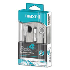 MAX 199725 Maxell  B-13 Bass Earbuds with Microphone MAX199725