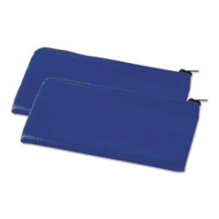 Universal® WALLET ZIPPERED 2-PK BE Zippered Wallets-cases, 11 X 6, Blue, 2 Per Pack