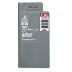 Dome Auto Mileage Log/Expense Record, 3 1/2 x 6 1/2, 140-Page Book