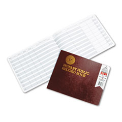 Dome Notary Public Record, Burgundy Cover, 60 Pages, 8 1/2 x 10 1/2