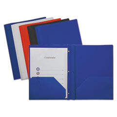 UNV 20555 Universal Plastic Twin-Pocket Report Covers with Fasteners UNV20555