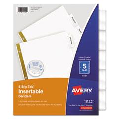Avery®-INDEX,BNDR,11X8.5,5CLR/ST